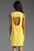 Image 4 of BB Dakota Wilt Hi-Low Dress in Cabana Yellow