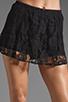 Image 4 of BB Dakota Aniston Lace Skort in Black
