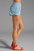Image 2 of Jack by BB Dakota Anna Cotton Chambray Shorts in Light Blue