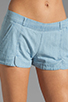 Image 4 of Jack by BB Dakota Anna Cotton Chambray Shorts in Light Blue