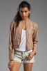 Image 1 of Jack by BB Dakota Lenon Quilted Faux Leather Moto Jacket in Pearl Rose