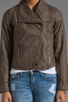 Image 4 of Jack by BB Dakota Sandler 2 Tone Crinkle Faux Leather Jacket in Concrete