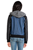 Image 4 of Jack by BB Dakota Cove Hoodie Bomber Jacket in Blue