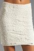 Image 4 of Jack by BB Dakota Fionna Lace Mini Skirt in Ivory