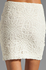 Image 6 of Jack by BB Dakota Fionna Lace Mini Skirt in Ivory