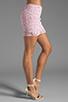 Image 2 of BB Dakota Sanford Lace Mini Skirt in Carnation