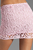 Image 6 of BB Dakota Sanford Lace Mini Skirt in Carnation