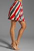 Image 2 of Jack by BB Dakota Dorene Stripe River Skirt in Midnight Blue/True Red