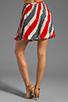 Image 3 of Jack by BB Dakota Dorene Stripe River Skirt in Midnight Blue/True Red
