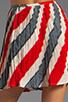 Image 6 of Jack by BB Dakota Dorene Stripe River Skirt in Midnight Blue/True Red