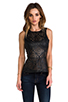 Image 1 of BB Dakota Harmony Faux Leather Peplum Top in Black