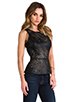 Image 2 of BB Dakota Harmony Faux Leather Peplum Top in Black