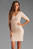 Image 1 of BCBGMAXAZRIA Sequin Mini Dress in Rose Whisper