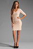 Image 2 of BCBGMAXAZRIA Sequin Mini Dress in Rose Whisper