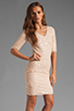 Image 3 of BCBGMAXAZRIA Sequin Mini Dress in Rose Whisper
