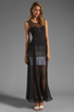 Image 2 of BCBGMAXAZRIA Sheer Maxi Tank Dress in Black Combo