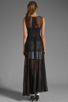 Image 4 of BCBGMAXAZRIA Sheer Maxi Tank Dress in Black Combo