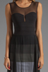 Image 5 of BCBGMAXAZRIA Sheer Maxi Tank Dress in Black Combo