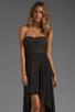 Image 1 of BCBGMAXAZRIA Hi-Low Dress in Black