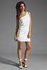 Image 2 of BCBGMAXAZRIA One Shoulder Mini Dress in White