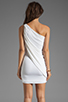 Image 4 of BCBGMAXAZRIA One Shoulder Mini Dress in White