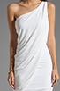 Image 5 of BCBGMAXAZRIA One Shoulder Mini Dress in White