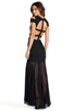 Image 1 of BCBGMAXAZRIA Cut-Out Maxi Dress in Black
