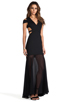 Image 3 of BCBGMAXAZRIA Cut-Out Maxi Dress in Black
