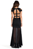 Image 4 of BCBGMAXAZRIA Cut-Out Maxi Dress in Black