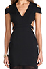 Image 5 of BCBGMAXAZRIA Cut-Out Maxi Dress in Black