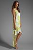 Image 3 of BCBGMAXAZRIA Hi-Low Dress in Gardenia/Light Lime