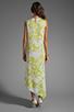 Image 4 of BCBGMAXAZRIA Hi-Low Dress in Gardenia/Light Lime
