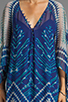 Image 5 of BCBGMAXAZRIA Short Sleeve Printed Maxi Dress in Dark Regal Blue Combo