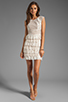 Image 2 of BCBGMAXAZRIA Ruffle Dress in Gardenia