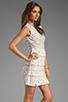 Image 3 of BCBGMAXAZRIA Ruffle Dress in Gardenia