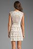 Image 4 of BCBGMAXAZRIA Ruffle Dress in Gardenia