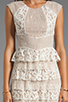 Image 5 of BCBGMAXAZRIA Ruffle Dress in Gardenia