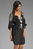 Image 3 of BCBGMAXAZRIA Long Sleeve Combo Dress in Black Combo