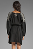 Image 4 of BCBGMAXAZRIA Long Sleeve Combo Dress in Black Combo