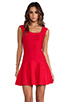 Image 1 of BCBGMAXAZRIA Back Cut-Out Dress in Poppy