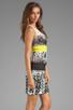 Image 3 of BCBGMAXAZRIA Print Combo Tank Dress in White Combo