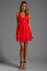Image 2 of BCBGMAXAZRIA Sleeveless Lace Dress in Bright Poppy