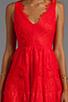Image 5 of BCBGMAXAZRIA Sleeveless Lace Dress in Bright Poppy