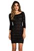 Image 1 of BCBGMAXAZRIA Halle Dress in Black