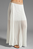 Image 1 of BCBGMAXAZRIA Pleated Maxi Skirt in White