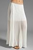 Image 1 of BCBGMAXAZRIA Pleated Maxi Skirt in White