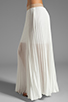 Image 2 of BCBGMAXAZRIA Pleated Maxi Skirt in White