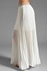 Image 2 of BCBGMAXAZRIA Pleated Maxi Skirt in White