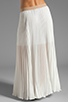 Image 3 of BCBGMAXAZRIA Pleated Maxi Skirt in White