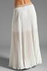 Image 3 of BCBGMAXAZRIA Pleated Maxi Skirt in White